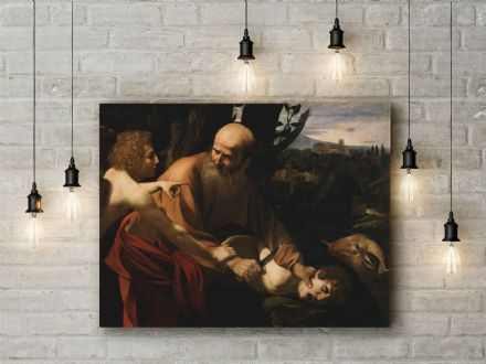 Caravaggio: The Sacrifice of Isaac. Fine Art Canvas.